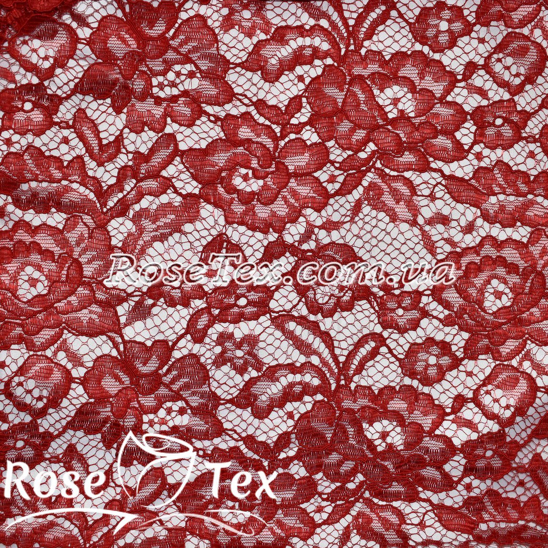 3784daba2d1e Купить ткань Гипюр кружево розы красный  оптом и в розницу по ...