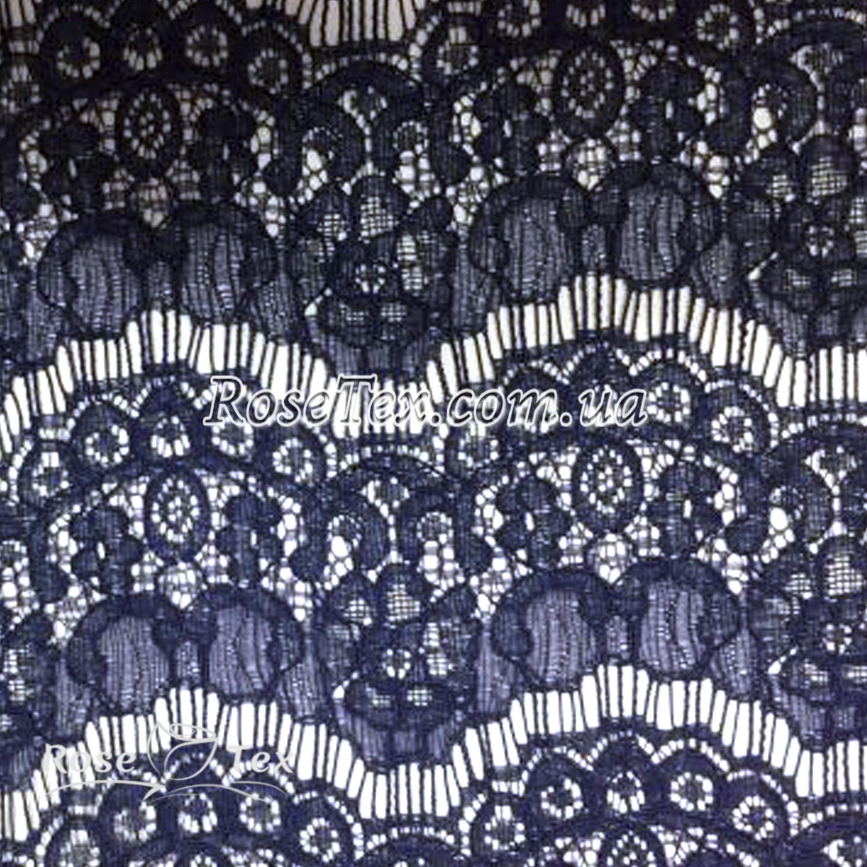 cc9338e0af9 Купить ткань Гипюр Реснички кружево Темно-синий  оптом и в розницу ...
