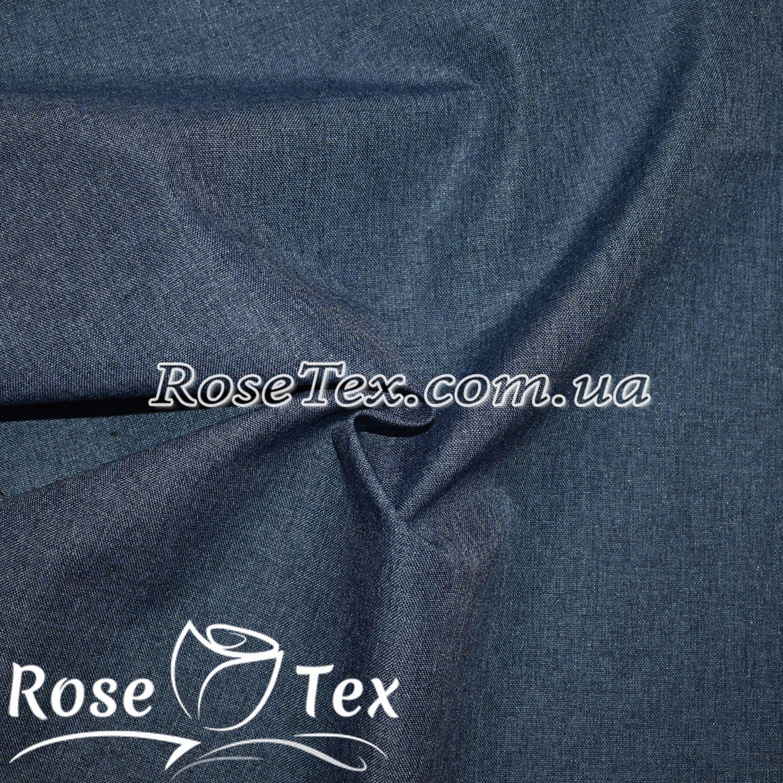Купити тканину Плащівка меланж синій джинс  оптом і в роздріб за ... 4737113315742