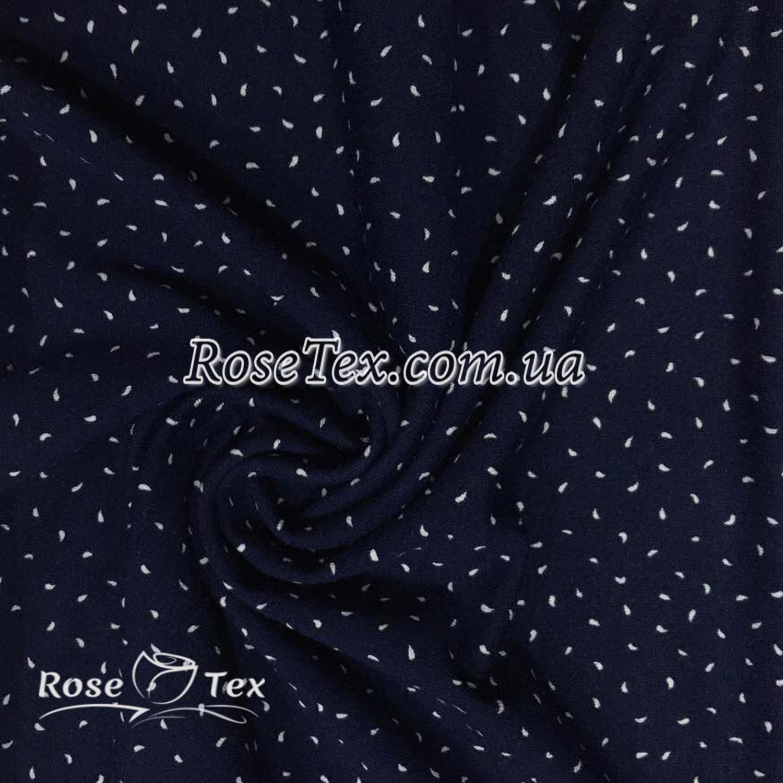 Купити тканину Віскоза принт білі точки на синьому  оптом і в роздріб за  вигідною ... bbd8175bbb1d1