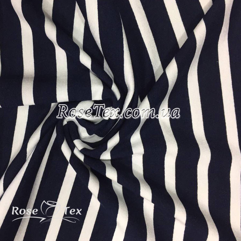 Купити тканину Віскоза принт полоска біла на темно-синьому 5мм  оптом і в  роздріб ... c8ece444f634c