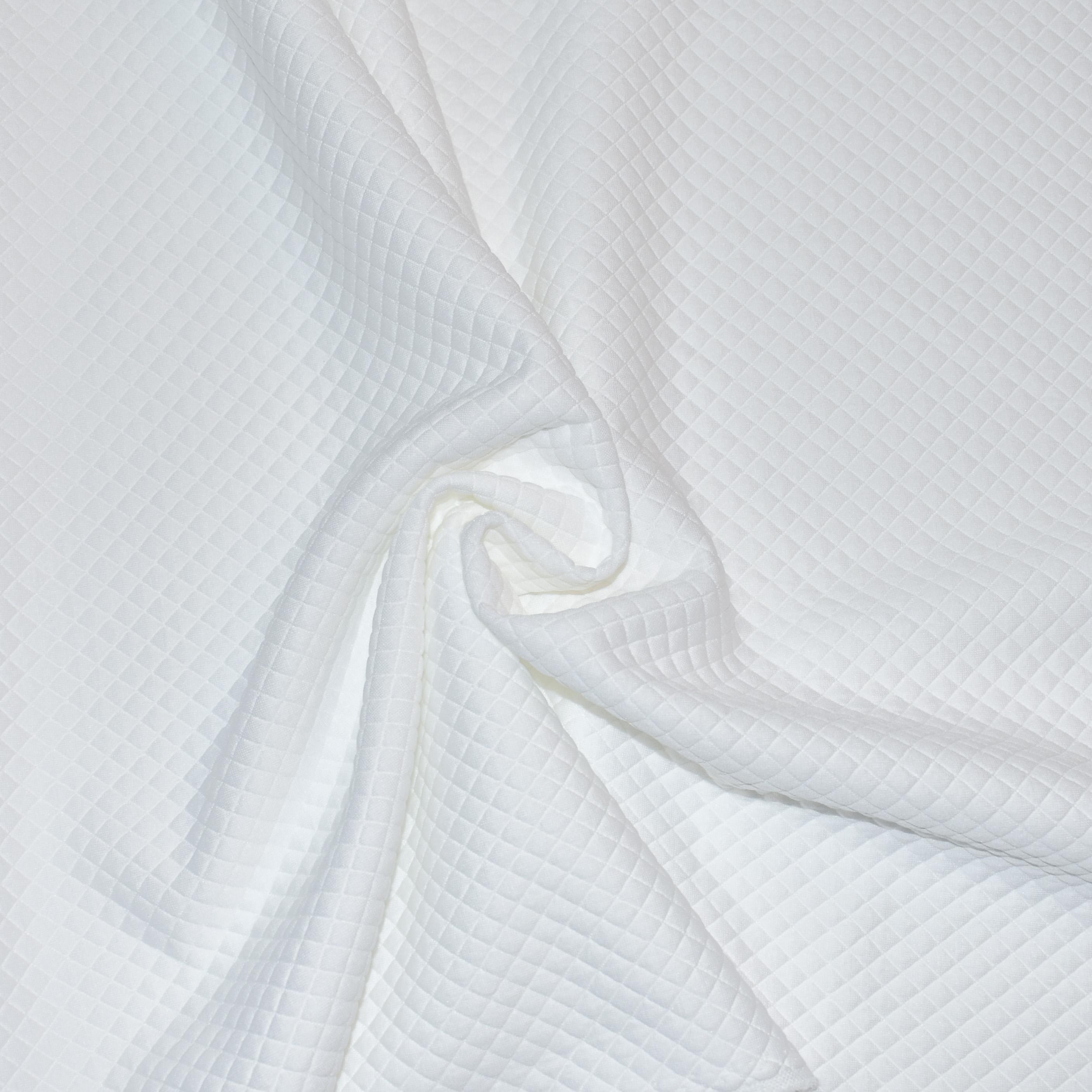 Белый трикотаж толстый лен ткань купить