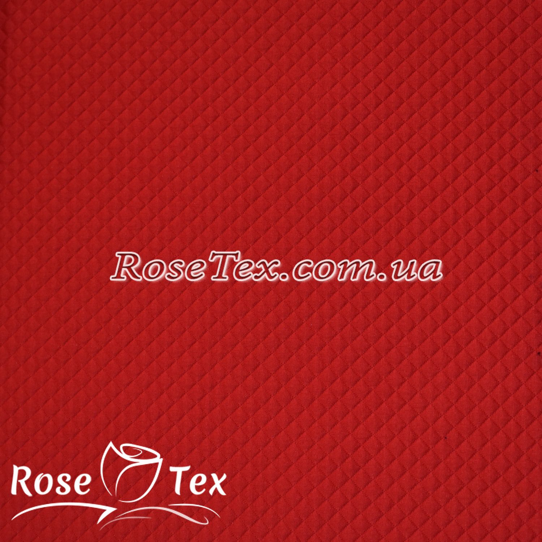 d1f032191b4f Купить ткань Стежка трикотаж красный мелкий ромб: оптом и в розницу ...